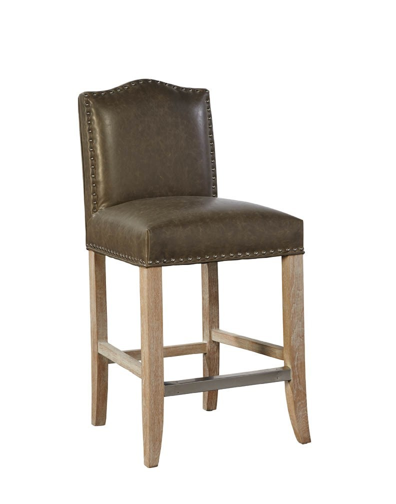 Taupe Pauper Counter Stool