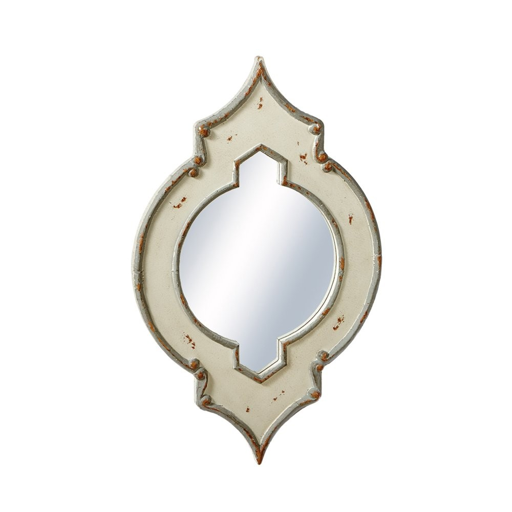 Distressed Two Toned Wall Mirror