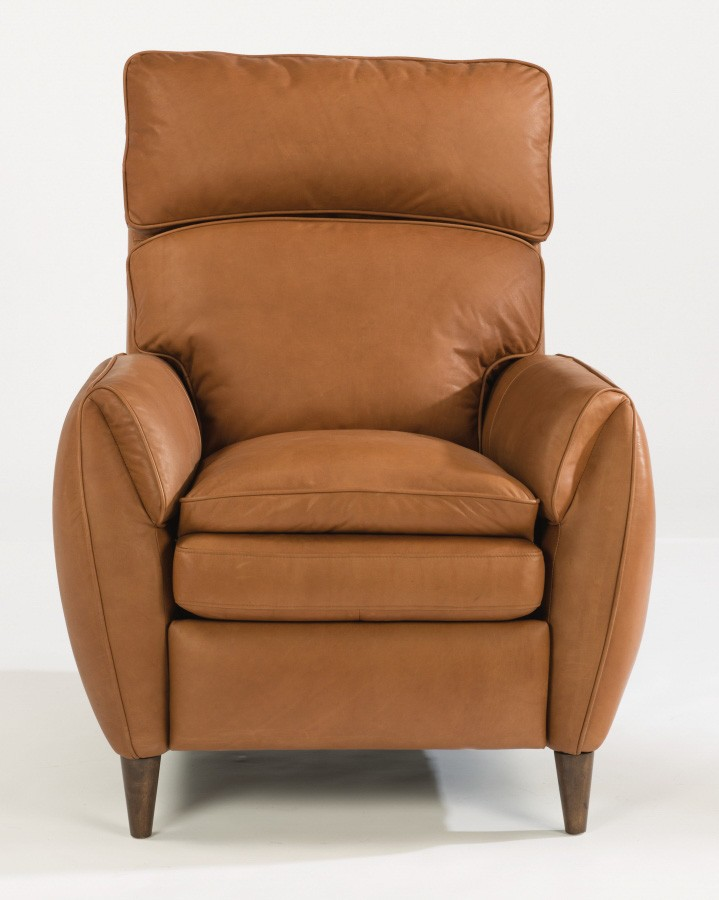 Amelia Leather Power High-Leg Recliner with Power Headrest