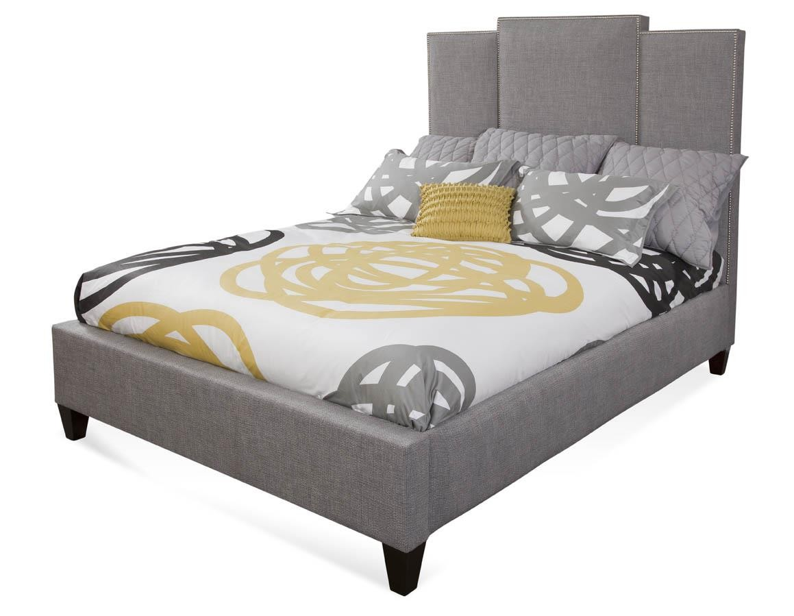 Upholstered Panel Queen Bed