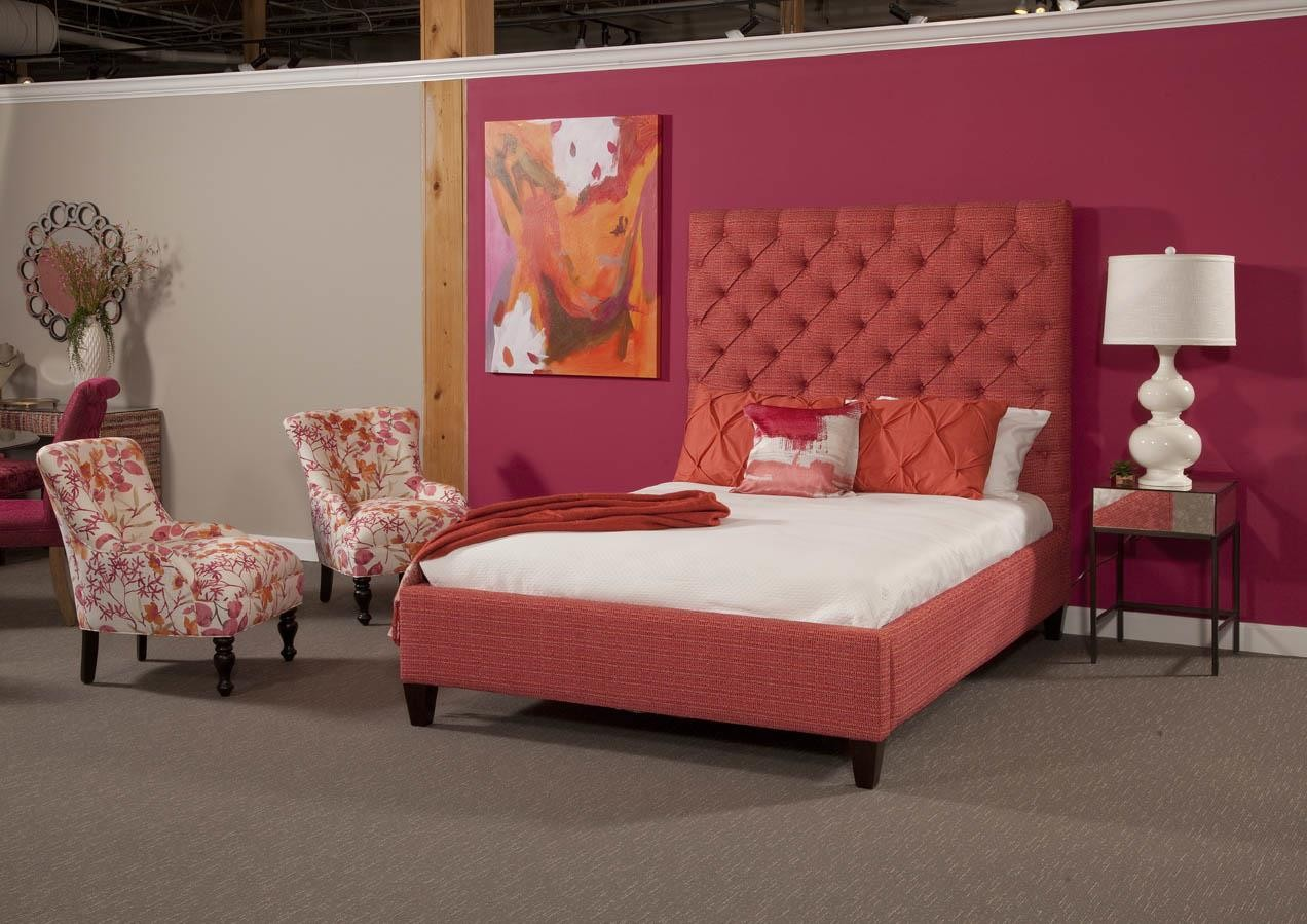 Button Tufted Queen Bed