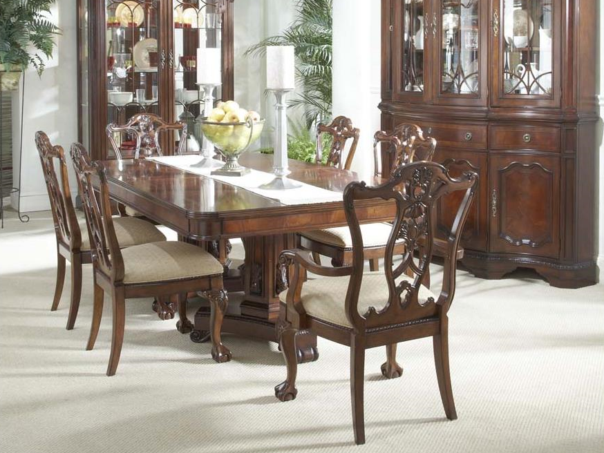 Antebellum Double Pedestal Table
