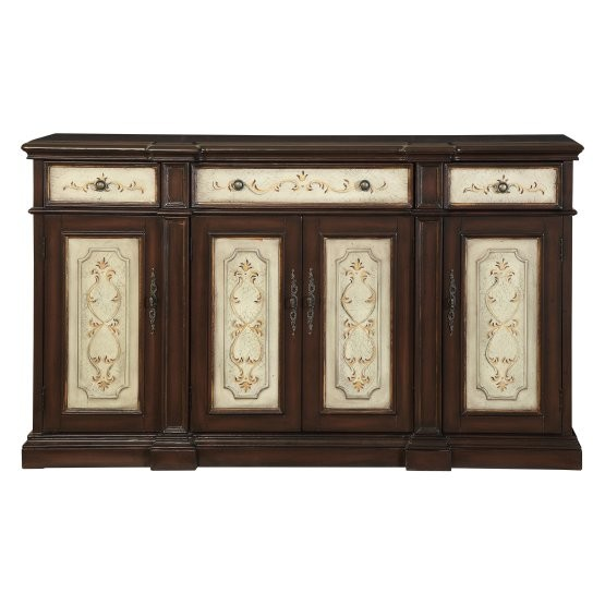 Coast to Coast Imports Three Drawer Four Door Media Console