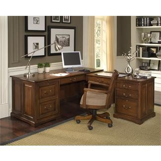 Riverside Cantata L Computer Workstation with Hutch