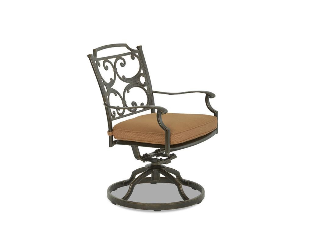 Lowell Bay Cushioned Swivel Rock Dining Chair - 2 Pack