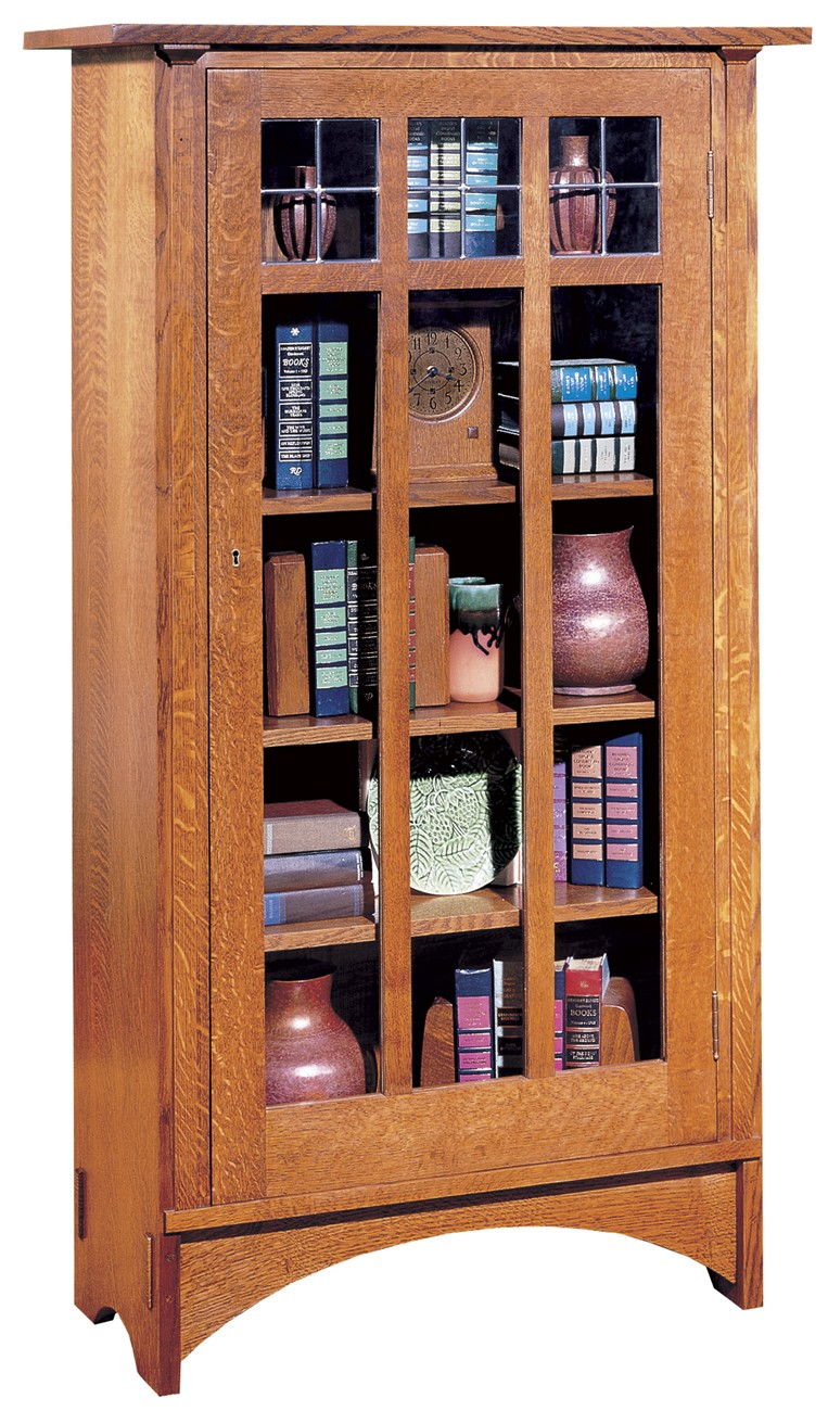 Single Door Book Case with Centennial Finish - Oak