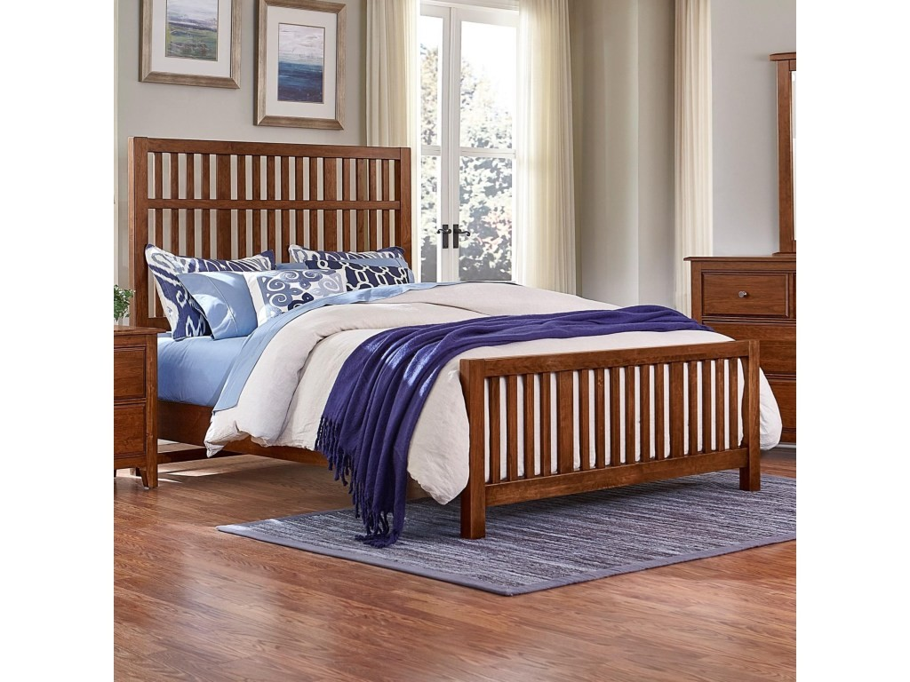 Artisan Choices Queen Craftsman Slat Bed