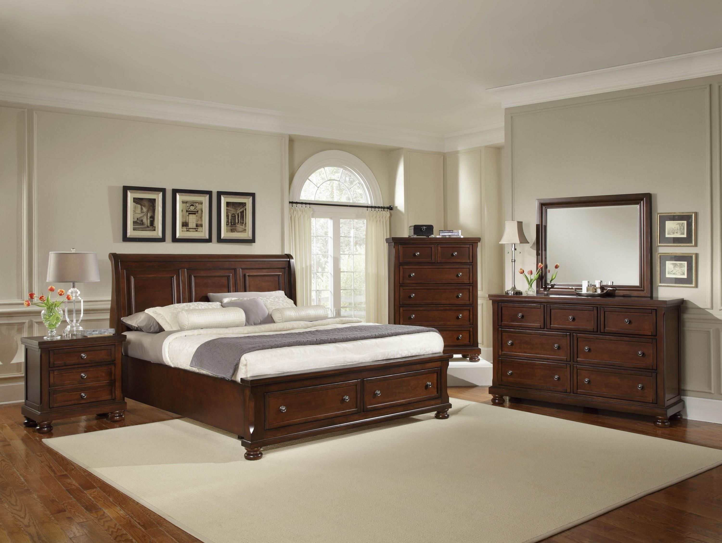 Reflections Queen Sleigh Storage Bed