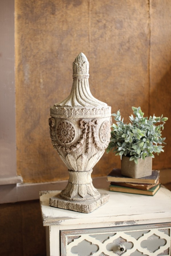 Large Antique Reproduction Resin Finial