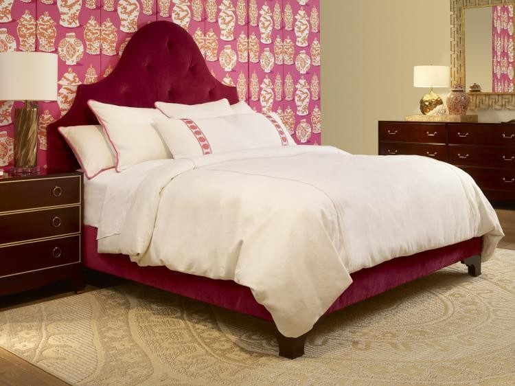 Lafayette Wood Trim Queen Upholstered Bed