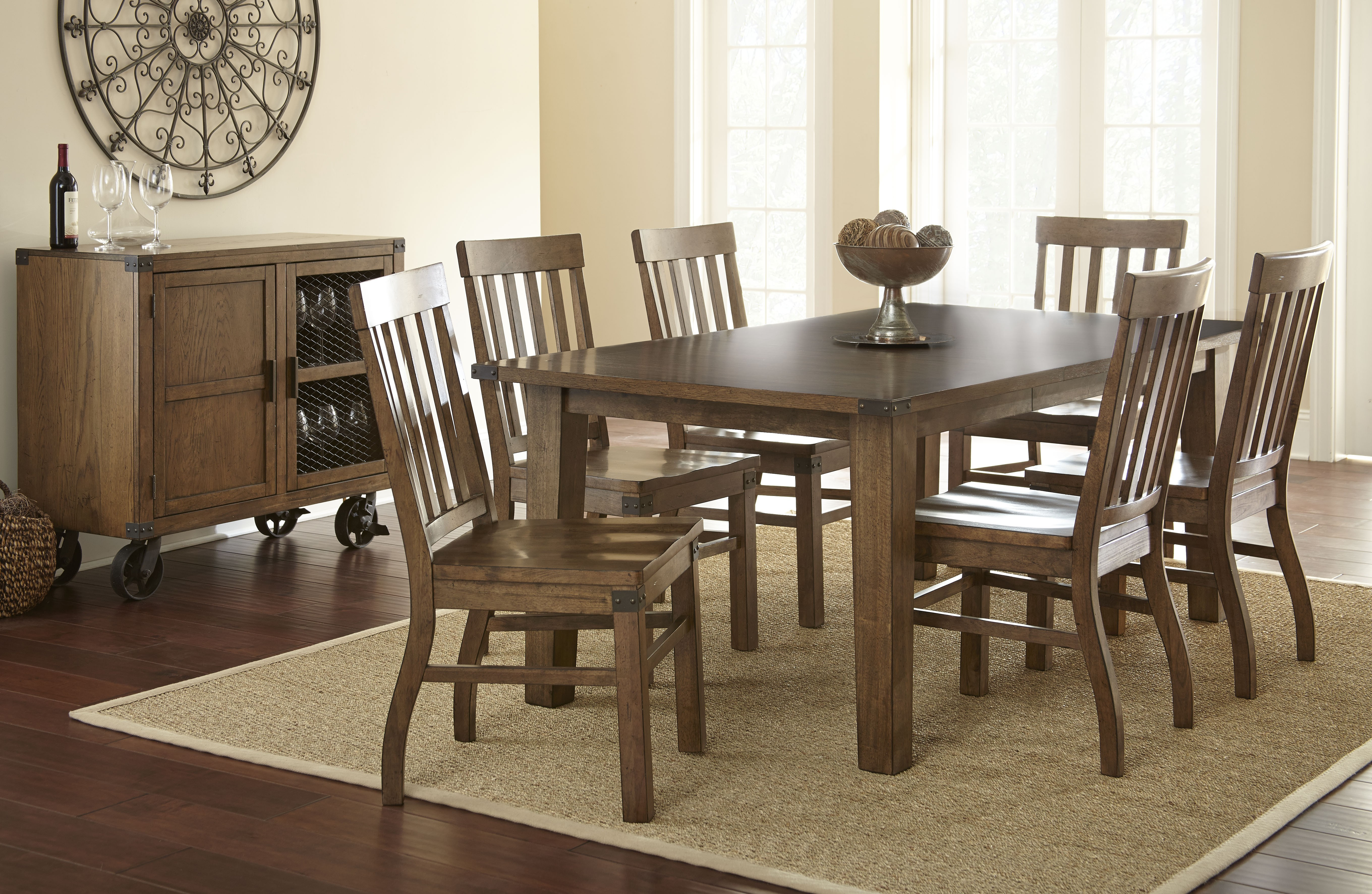 doerr furniture hailee dining table w 6 chairs