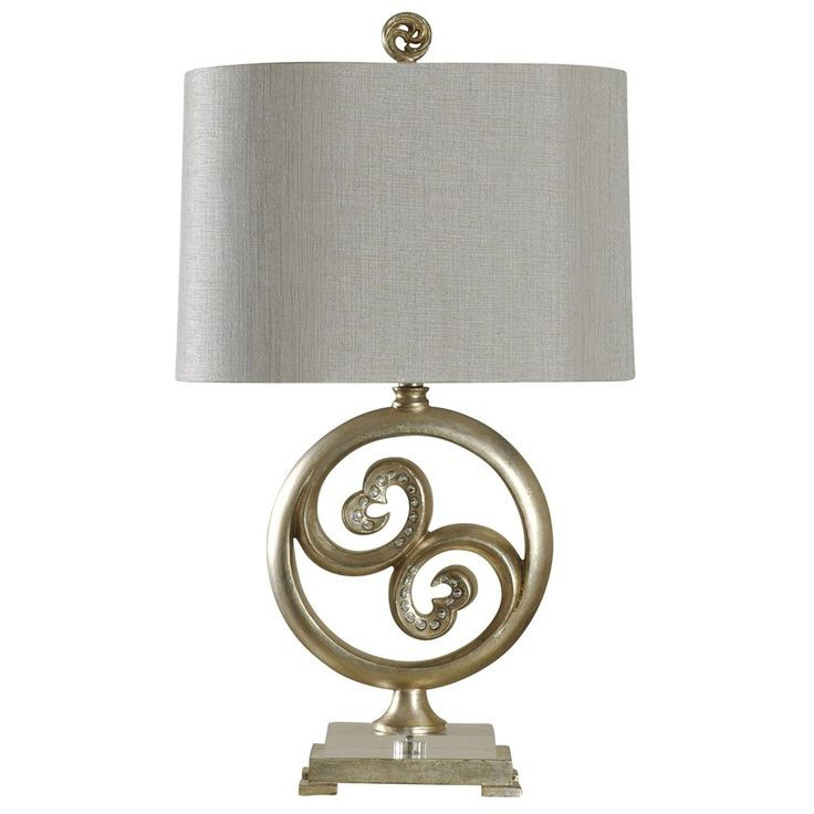 Round Disk Transitional Table Lamp