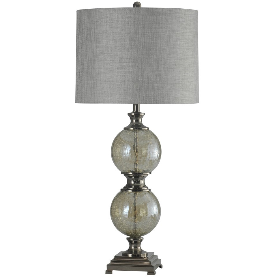Glass & Steel Table Lamp