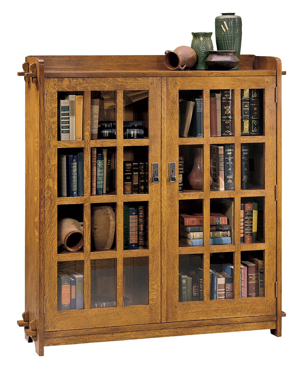 89-645-32 Double Bookcase w/Glass Doors