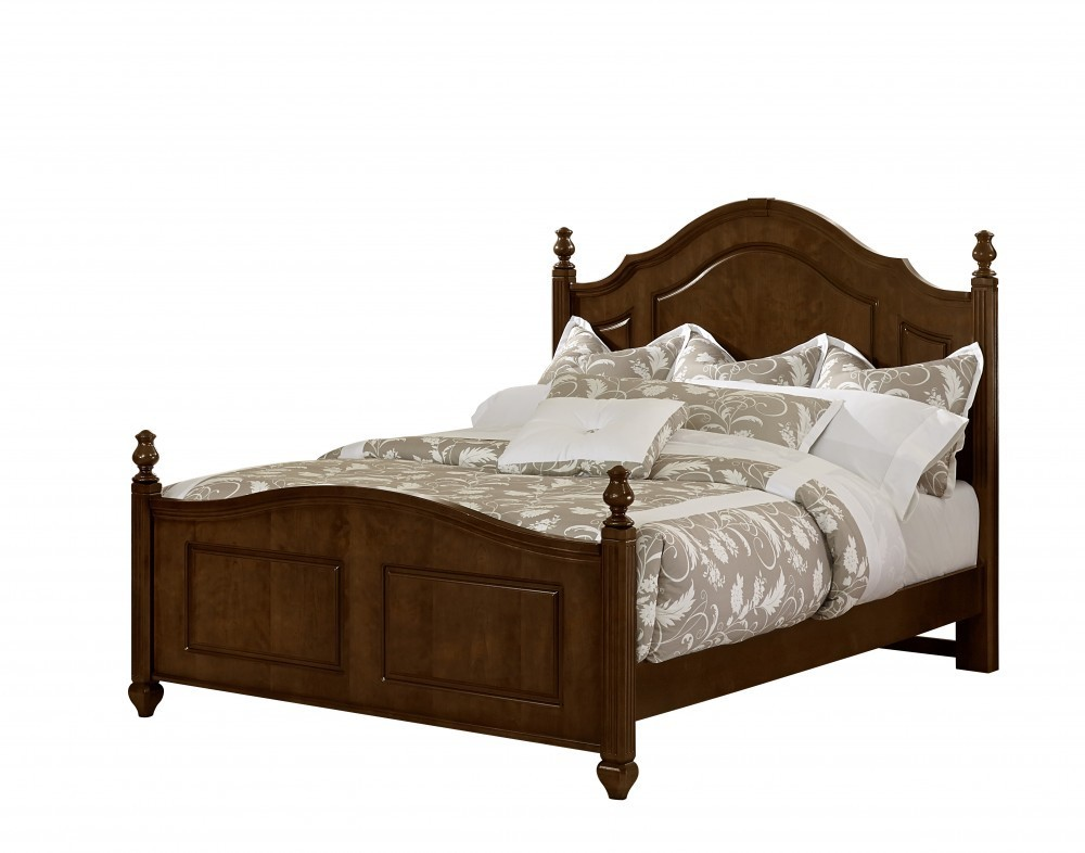 Vaughan-Bassett 380-338 French Market Twin Poster Headboard only in Antique Merlot Finish.