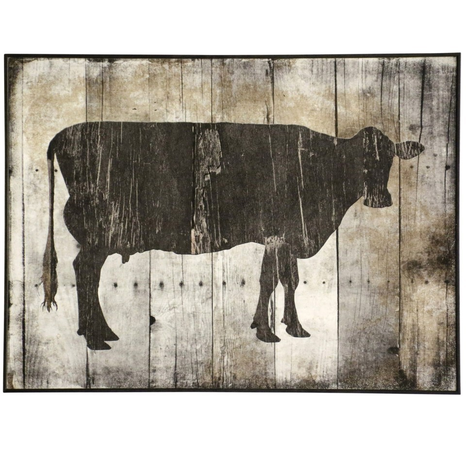 Cow Textured Framed Print