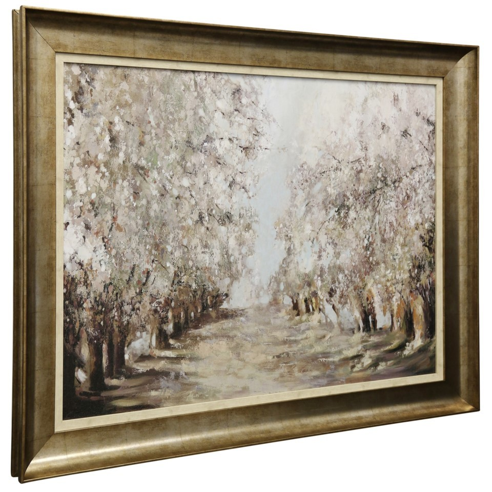 Spring Blossoms Textured Framed Print