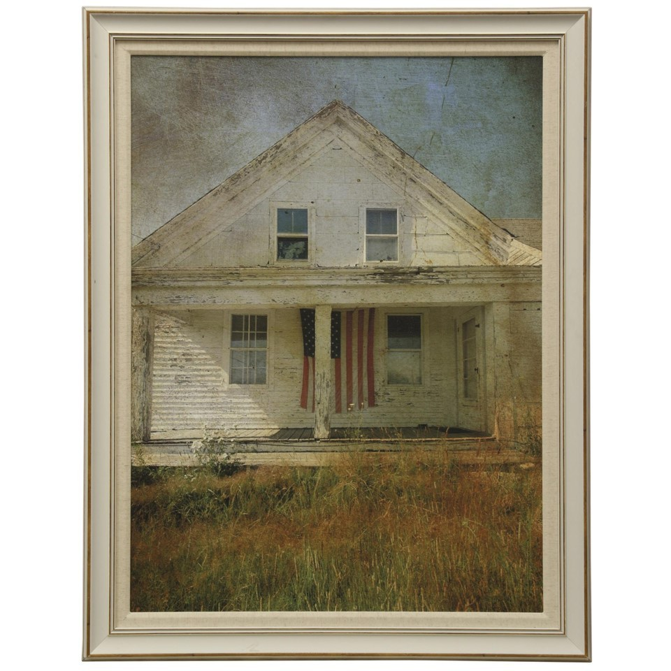 Old Glory Textured Framed Print
