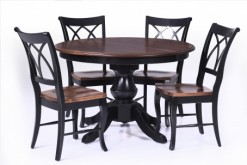 "Expressions Dining Table w/1-12"" Leaf & 4 Adams Side Chairs"