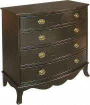 Bow Front Hall Chest