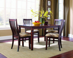 Expressions Solid Dining Table with 4 Landon Side Chairs