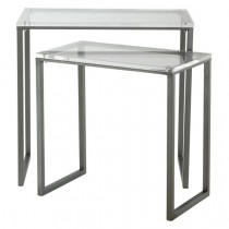 Coast to Coast Lucite 2 Piece Rectangular Nesting Tables