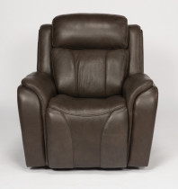 Paisley Leather Power Recliner W/Power Headrests