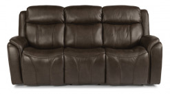 Paisley Leather Power Reclining Sofa W/Power Headrests