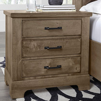Cool Rustic 3 Drawer Nightstand