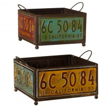 License Plate Planter Tray