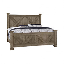 Cool Rustic King X-Bed w/X-Footboard