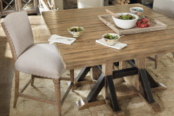 Roslyn County Square Dining Table and 4 Stools