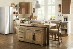 Roslyn County Kitchen Island And Multifunctional Cart
