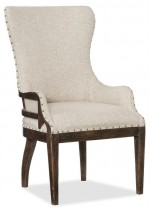 Roslyn County Deconstructed Upholstered Host Chair