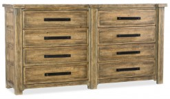 Roslyn County Eight-Drawer Dresser W/Metal Mirror