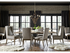 Minerva Dining Table w/ 4 Side Chairs and 2 Arm Chairs