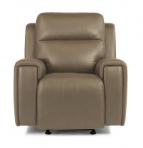 Jasper Leather Power Gliding Recliner w/Power Headrest