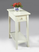 White Chairside End Table