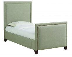Manhattan Tufted Twin Upholstered Bed by HGTV Design Studios