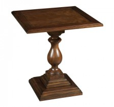 2-3207 Vintage European Square Pedestal End Table
