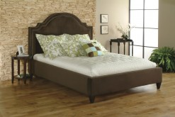 Upholstered Clipped Panel Queen Bed