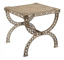 Grate Top X-Bench/Side Table