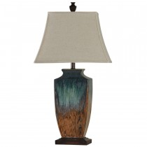 Ceramic Table Lamp w/Reactive Glaze