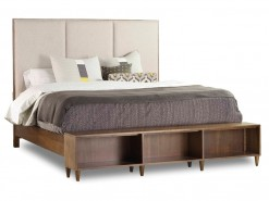 Studio 7H Aon King Upholstered Bookcase Footboard Bed