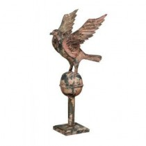 Eagle statue Distressed rustic white finish
