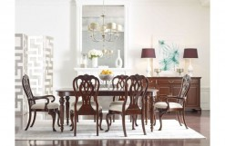 Hadleigh Double Pedestal Dining Table w/2 Arm Chairs & 4 Side Chairs