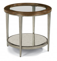 Patina Round End Table
