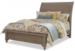 Laurel Home Collection Rogers Queen Sleigh Bed with Low Footboard