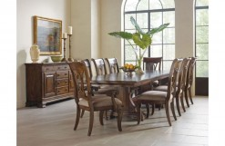Portolone Caruso Trestle Dining Table w/2 Arm Chairs & 4 Side Chairs