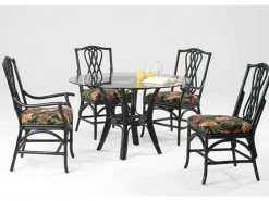 "Trellis 42"" Dining Table with 2 Side Chairs & 2 Arm Chairs"